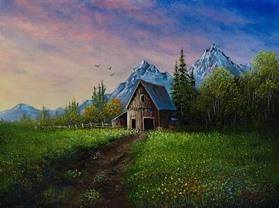 Alpine Barn Poster by C Steele