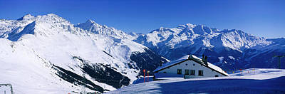 Alpine Scene In Winter, Switzerland Poster