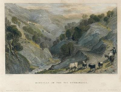 Alps. Shepherd In Germanasca Valley Poster by Everett