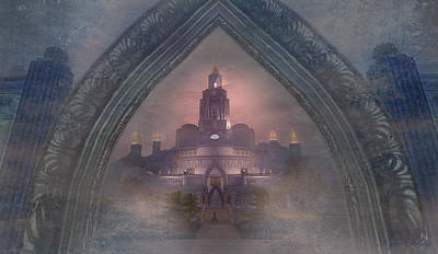 Poster featuring the digital art Alqualonde Castle by Kylie Sabra