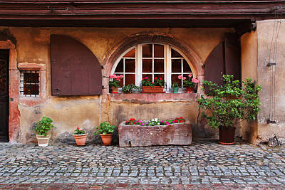 Alsatian Home In Kaysersberg France Poster