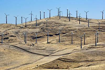 Altamont Pass - Wind On The Hills Poster by Nikolyn McDonald