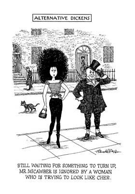 Alternative Dickens Still Waiting For Something Poster by J.B. Handelsman