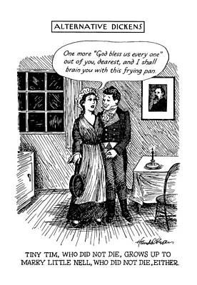 Alternative Dickens Tiny Tim Poster by J.B. Handelsman