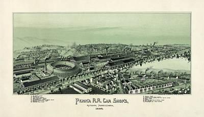 Altoona Pennsylvania In 1895 Poster
