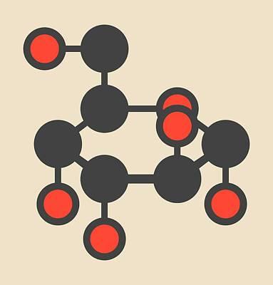 Altrose Sugar Molecule Poster by Molekuul