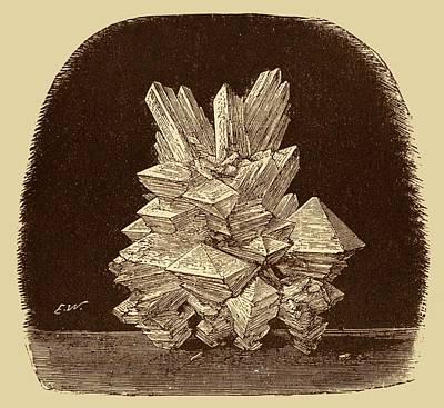 Alum Crystals Illustration. Poster