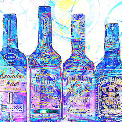 Always Carry A Bottle Of Whiskey In Case Of Snakebite 20140917 V1 Square Poster by Wingsdomain Art and Photography