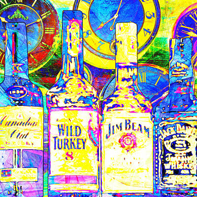 Always Carry A Bottle Of Whiskey In Case Of Snakebite 20140917 V3 Square Poster by Wingsdomain Art and Photography