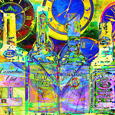 Always Carry A Bottle Of Whiskey In Case Of Snakebite 20140917 V4 Square Poster by Wingsdomain Art and Photography