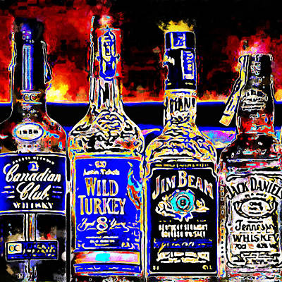Always Carry A Bottle Of Whiskey In Case Of Snakebite 20140917 V5 Square Poster by Wingsdomain Art and Photography