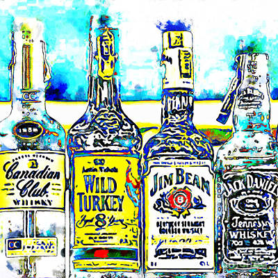 Always Carry A Bottle Of Whiskey In Case Of Snakebite 20140917 V6 Square Poster by Wingsdomain Art and Photography