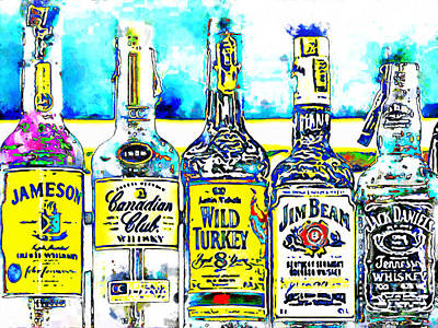 Always Carry A Bottle Of Whiskey In Case Of Snakebite 20140917 V6 Poster by Wingsdomain Art and Photography