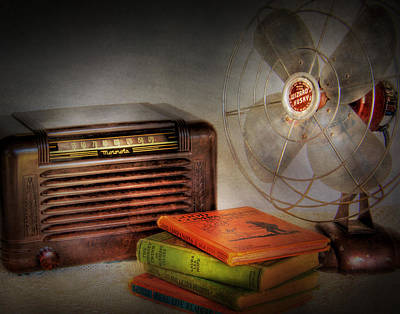 Am Radio Books And Electric Fan Poster