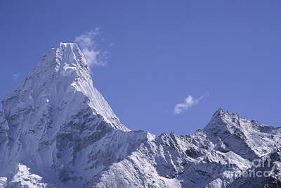 Poster featuring the photograph Ama Dablam Nepal by Rudi Prott