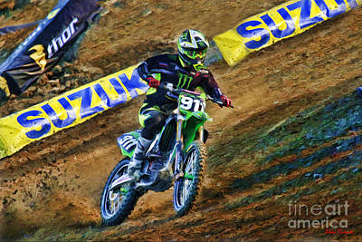 Ama Supercross Tyler Bowers Poster by Blake Richards