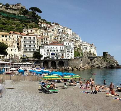 Amalfi Beach Poster by Marilyn Dunlap