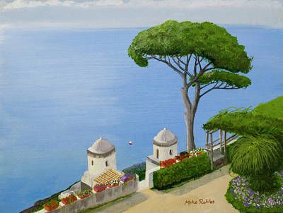 Amalfi Coast From Ravello Poster by Mike Robles