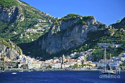 Famous Amalfi Village Poster
