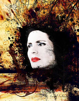 Amalia Rodrigues Poster by Isabel Salvador