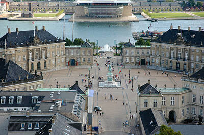 Poster featuring the photograph Amalienborg Palace Copenhagen by Mary Lee Dereske