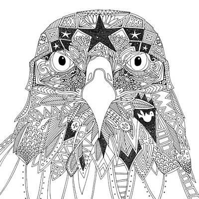 Amarican Eagle Black White Poster