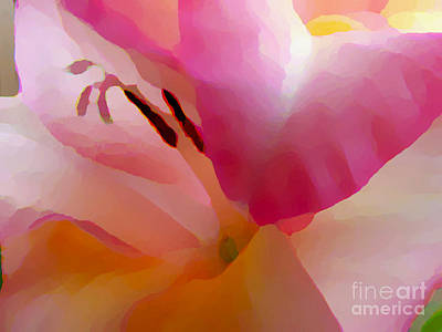 Gladiola Photo Painting Poster