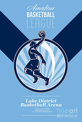 Amateur Basketball League Retro Poster Poster by Aloysius Patrimonio