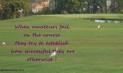 Amateur Golf  Poster by Geeta Biswas