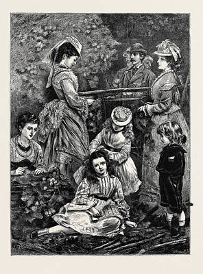 Amateur Hop-picking In Kent Poster by English School