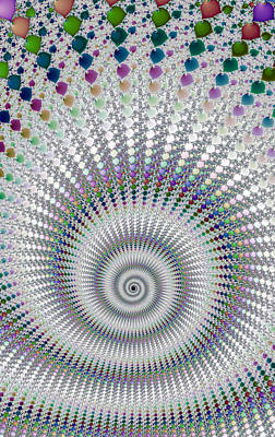 Amazing Fractal Spiral With Great Depth Poster