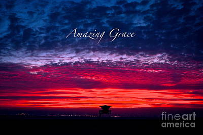 Poster featuring the photograph Red Sky At Night by Margie Amberge