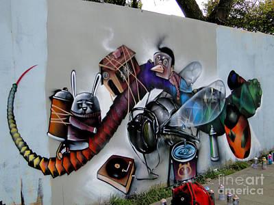 Amazing Graffiti Art Poster by Al Bourassa