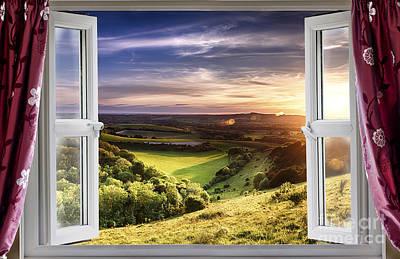 Amazing Window View Poster by Simon Bratt Photography LRPS