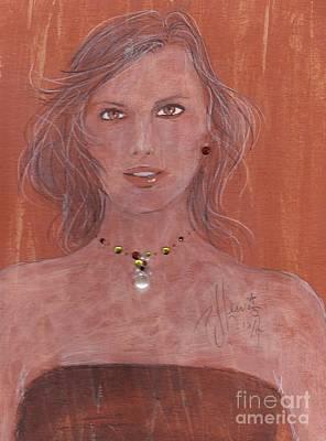 Amber Eyes Poster by P J Lewis