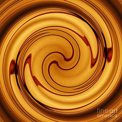 Amber Square Swirl 2 Poster