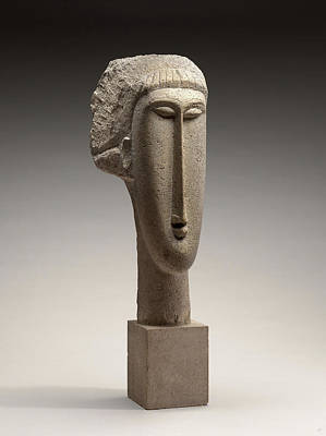 Amedeo Modigliani, Head Of A Woman, Italian Poster by Litz Collection