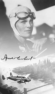Amelia And Lockheed Electra Poster