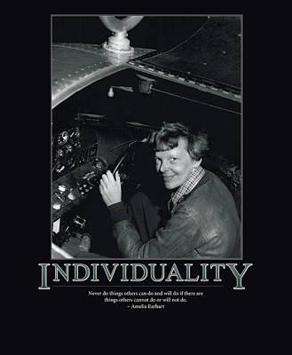 Amelia Earhart Individuality  Poster