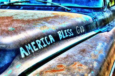 America Bless God Poster by Lorri Crossno