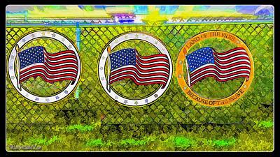 America On The Fence Poster by LeeAnn McLaneGoetz McLaneGoetzStudioLLCcom