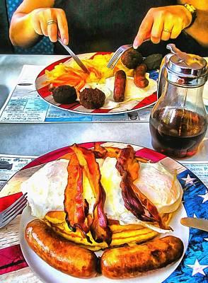 American Breakfast In New York City Poster