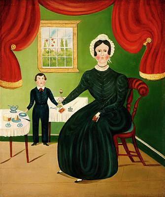 American 19th Century, Interior Scene Poster