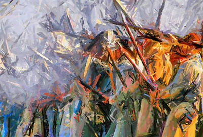 American Civil War - Abstract Expressionism Poster by Georgiana Romanovna