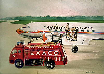 American Dc-6 At Columbus Poster