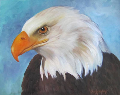 Poster featuring the painting American Eagle by Cheri Wollenberg