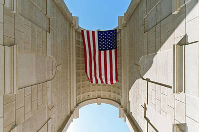 American Flag At The Millennium Gate Poster by Panoramic Images