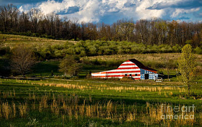 American Flag Barn Poster by Amy Cicconi