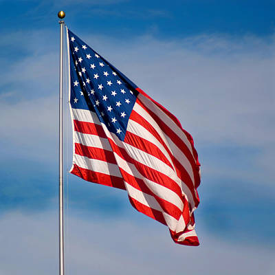 American Flag Poster by Benjamin Reed