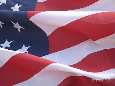 Poster featuring the photograph American Flag   by Chrisann Ellis